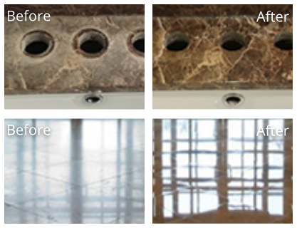 Marble Before and After